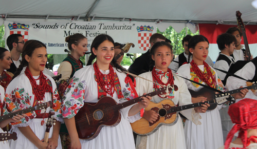 Young Tamburitza players in the Croatian Cultural Garden