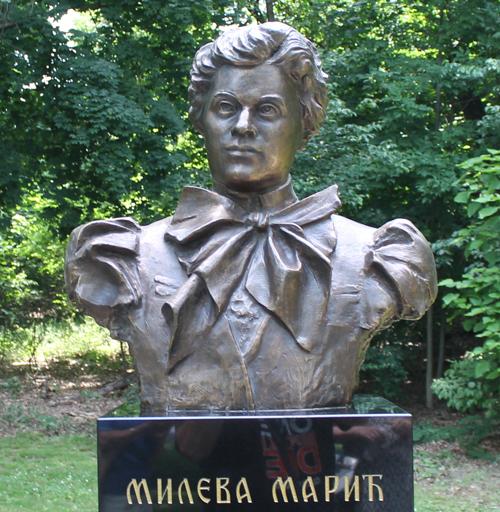 Mileva Maric bust bin Serbian Cultural Garden