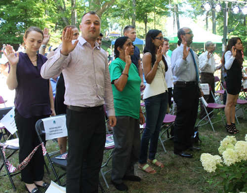 New citizens sworn in at One World Day